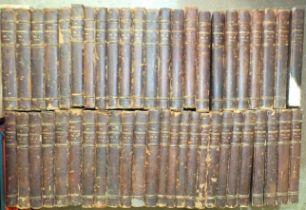The Connoisseur, vols 2-28, 30-34, 37-45, 47-53, illus, hf cf gt, 4to, 1902-1919, 48 vols.