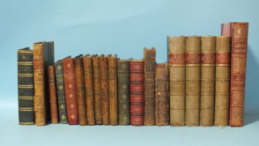Dickens (Charles), Little Dorrit, 2 vols in 1, frontis and 38 engr plts, (heavily-foxed), hf mor gt,
