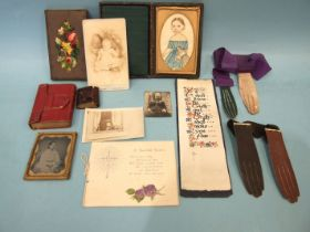 Miniature books: The Daily Text Book, 2.7 x 3.4cm, The Book of Psalms 1832, 5.5 x 7cm, both ge