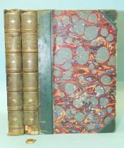 Dickens (Charles), Our Mutual Friend, 2 vols, 40 engr plts, hf mor gt, 8vo, 1865, (damage to