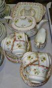 Twenty-four pieces of Wedgwood 'Bianca' decorated tea ware, comprising: teapot, milk jug, six each