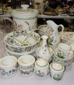 A collection of Portmeirion 'The Botanic Garden' decorated kitchen ware, including a large storage
