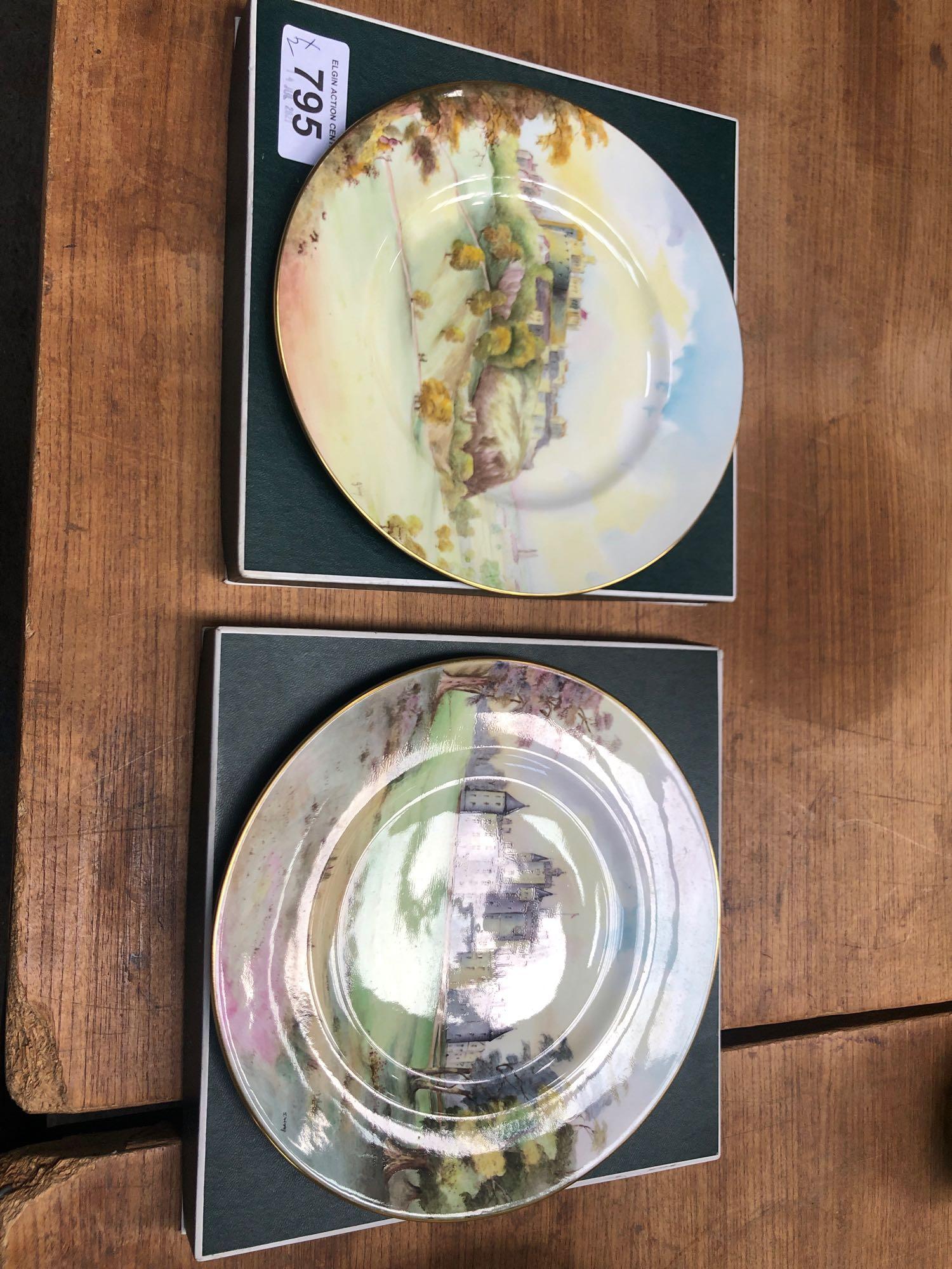 2 BOXED MINTON PLATES- GLAMIS & EDINBURGH