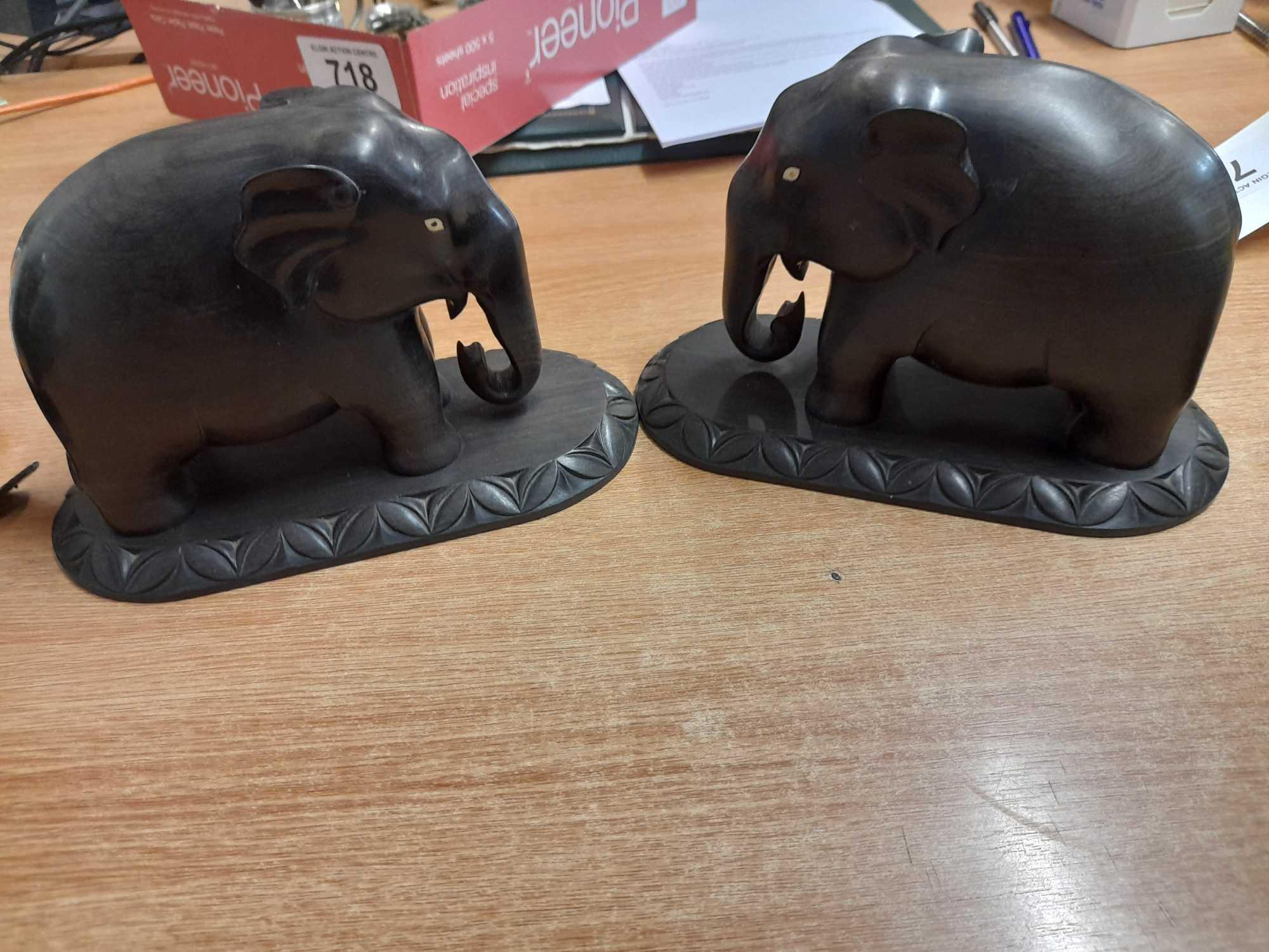 PAIR BOOKENDS & 2 ELEPHANTS (AF) - Image 3 of 4