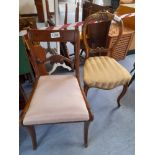 2 ODD DINING CHAIRS (AF)