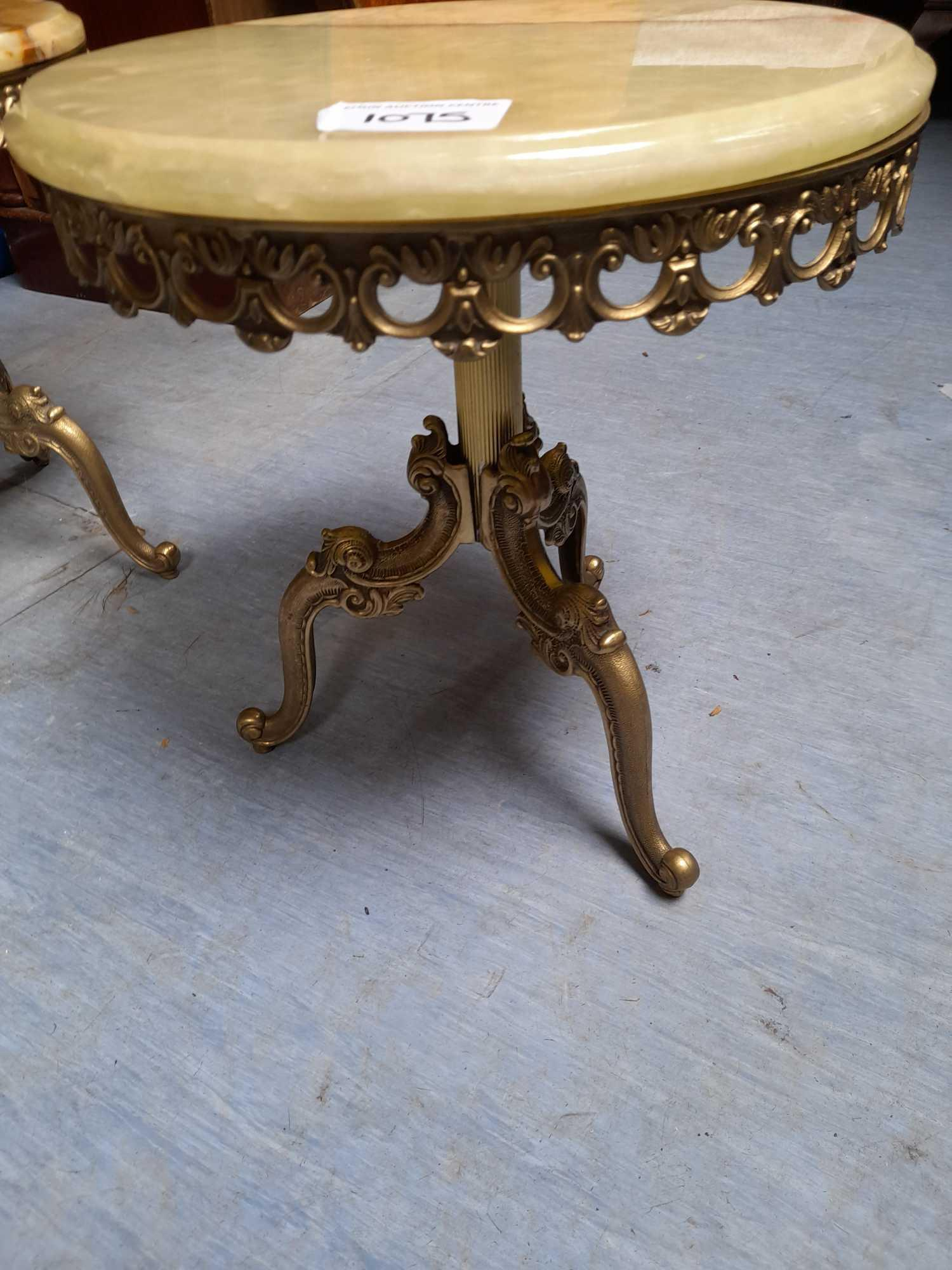 2 SMALL ONYX TABLES - Image 2 of 2