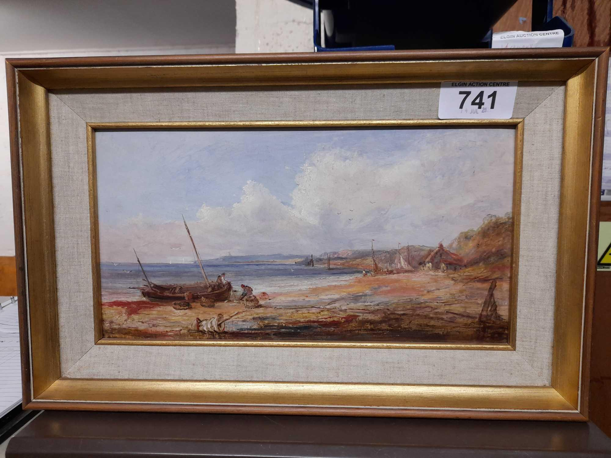 OIL PAINTING SEASCAPE UNSIGNED