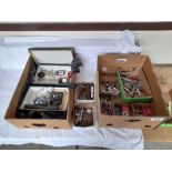 3 BOXES WATCHMAKERS TOOLS RING SIZERS ETC