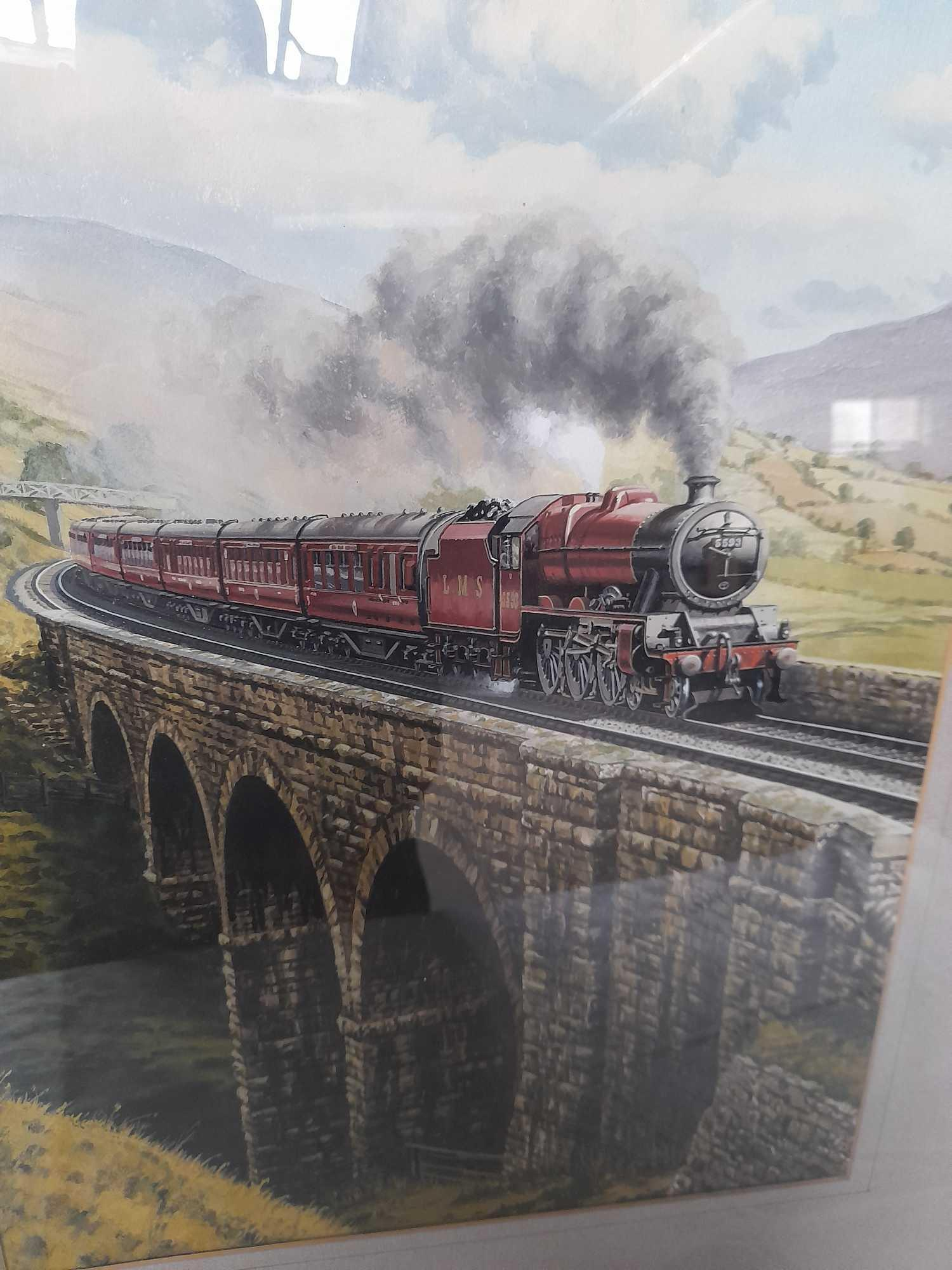 W C PAINTING BY G HEIRON 1990 JUBILEE 5593 ON VIADUCT - Image 2 of 3