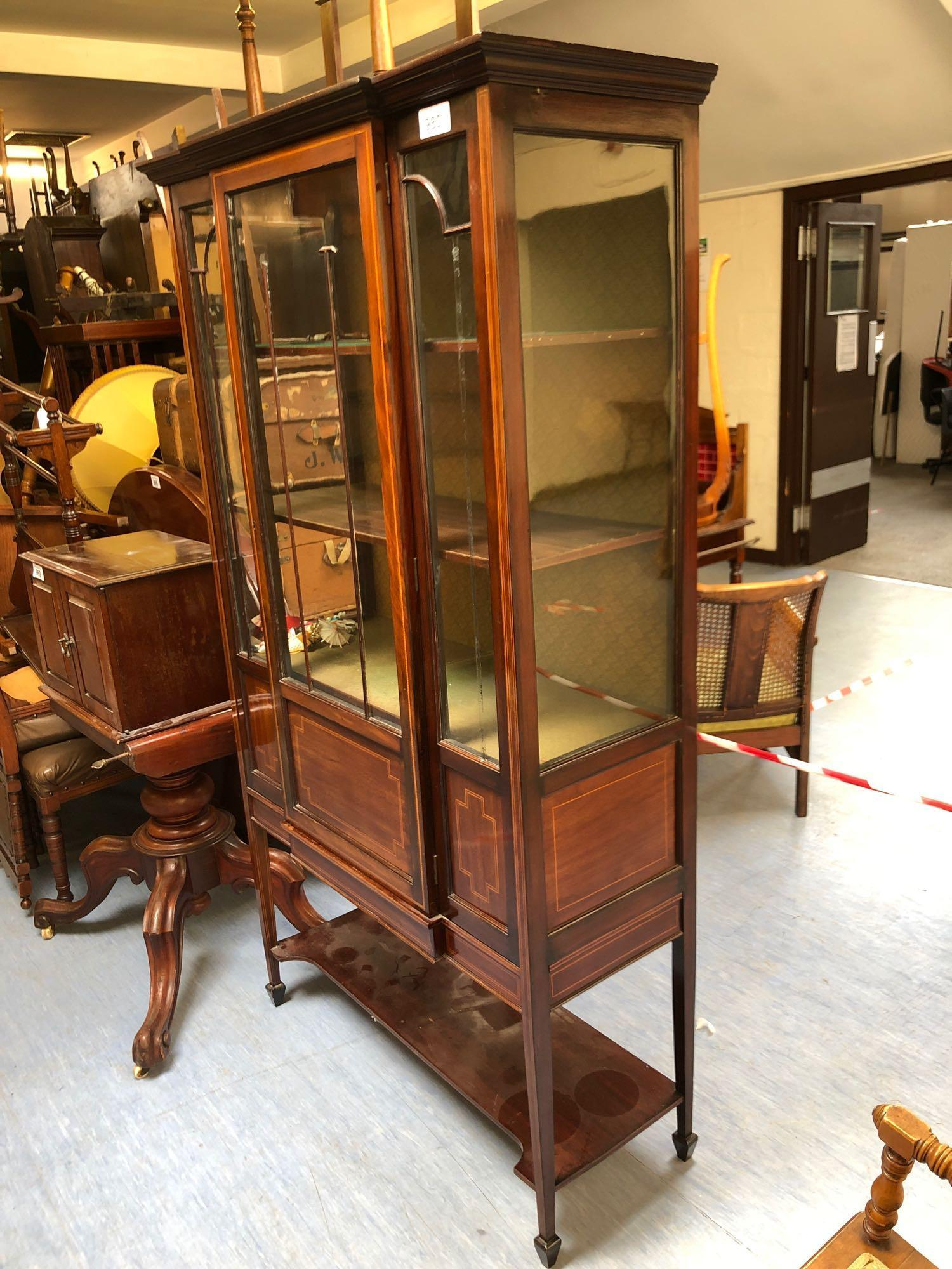 INLAID GLASS DISPLAY CABINET(AF) - Image 2 of 5