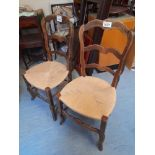 2 CANE CHAIRS (AF)