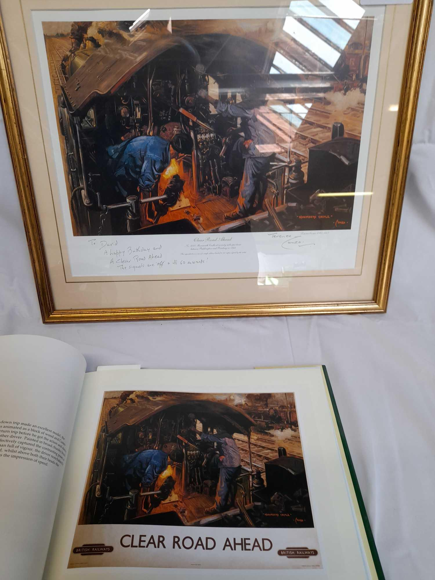 PRINT- CLEAR ROAD AHEAD & BOOK- T CUNEO - Image 6 of 6