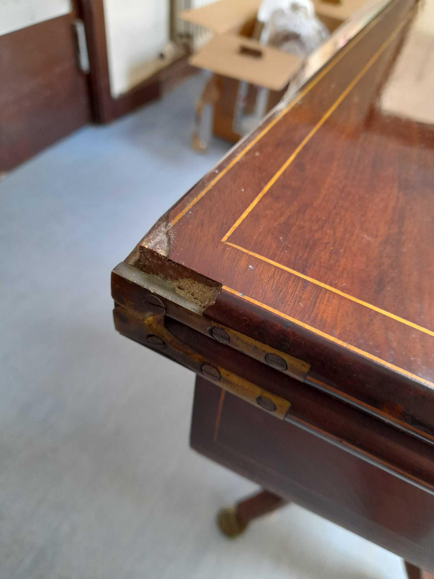 INLAID FOLD OVER TABLE - Image 6 of 7