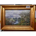 OIL PAINTING WATERMILL M MCLEAY 1871