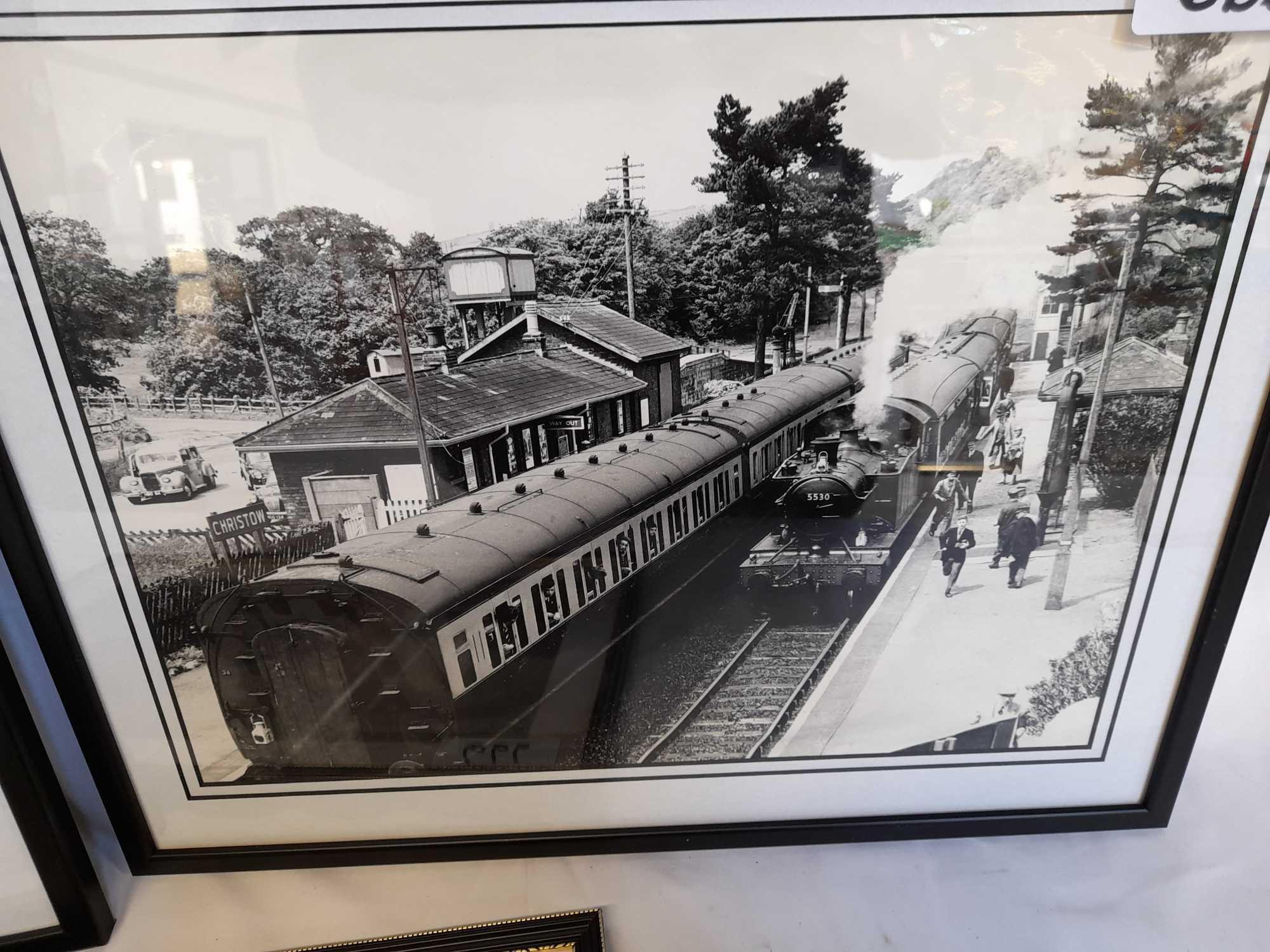 3 FRAMED PHOTOS TRAINS - Image 3 of 5