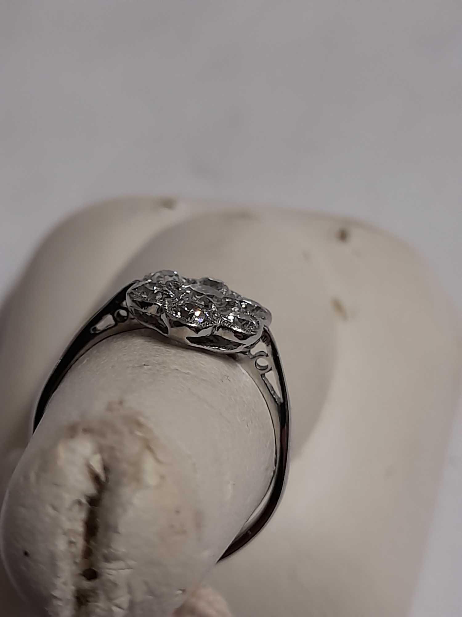"7 STONE DIAMOND DRESS RING ""M"" - Image 2 of 6"