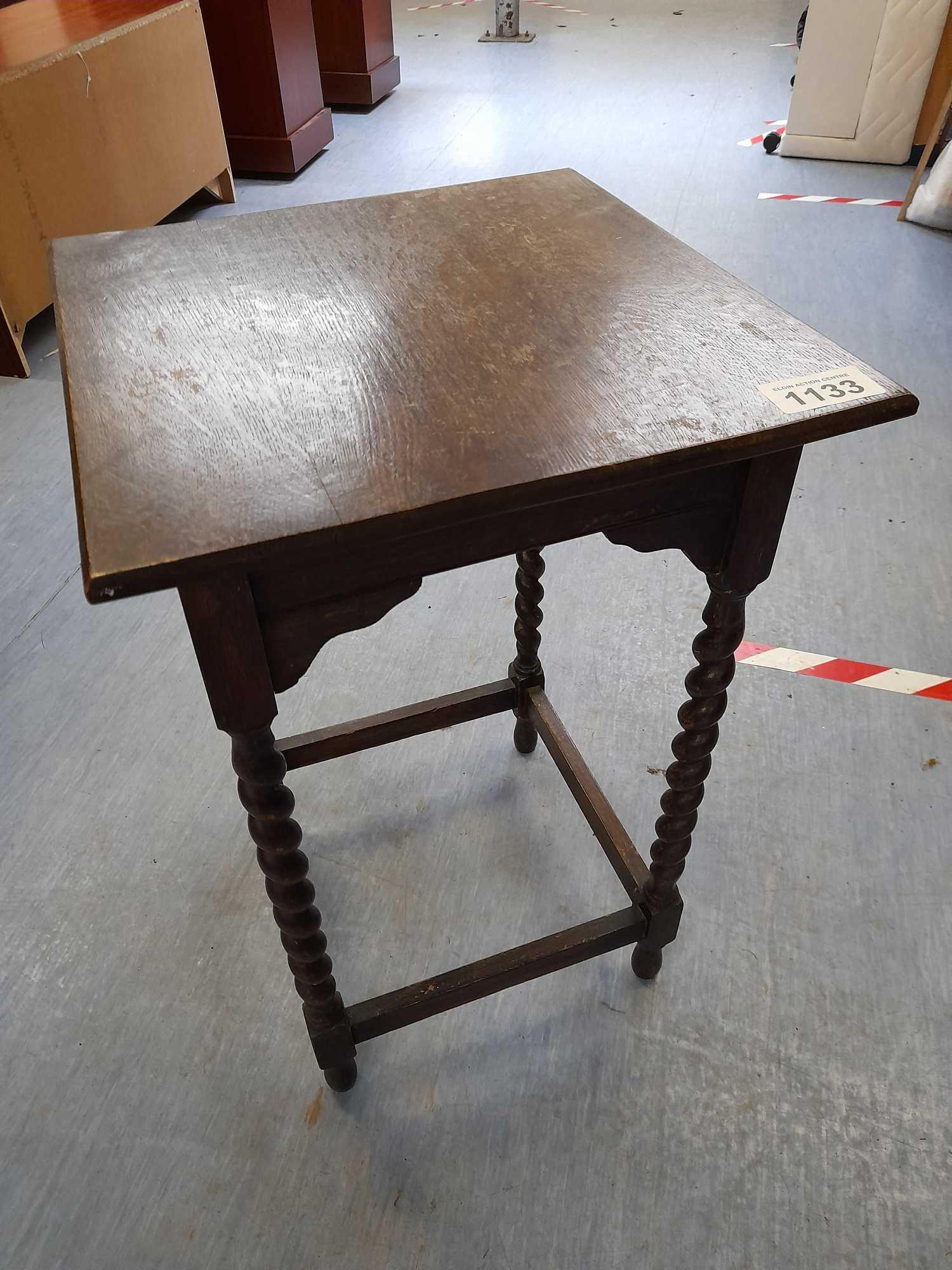 BARLEY TWIST SQUARE TOPPED TABLE