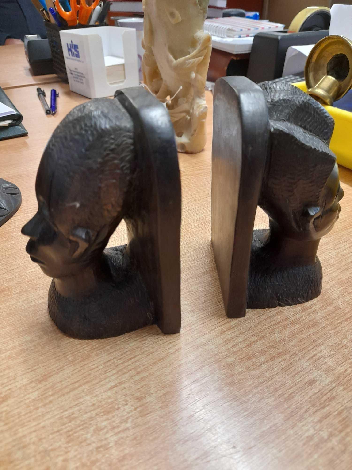 PAIR BOOKENDS & 2 ELEPHANTS (AF) - Image 2 of 4