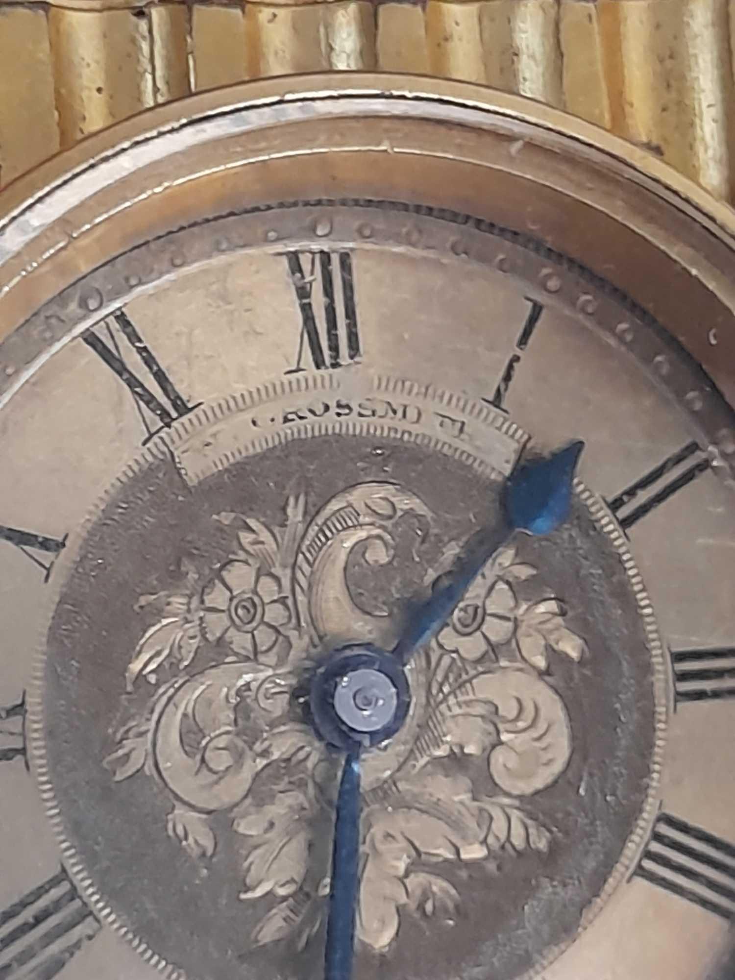 SMALL BRASS CLOCK GROSSMITH LONDON - Image 4 of 6