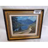 SMALL OIL PAINTING BY M BARTON LOCH NA LETTREACH
