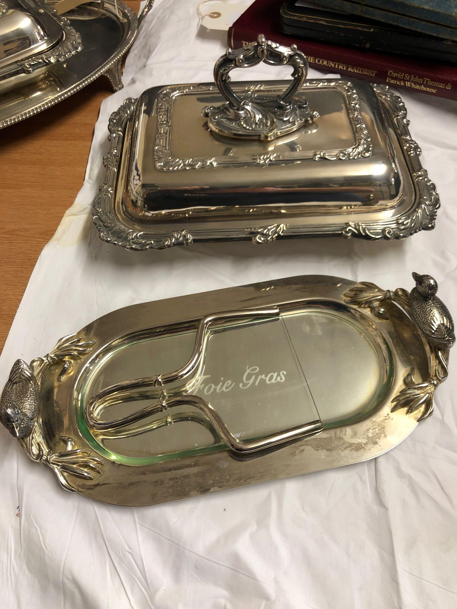 BOX ASSORTED SILVER PLATED WARE