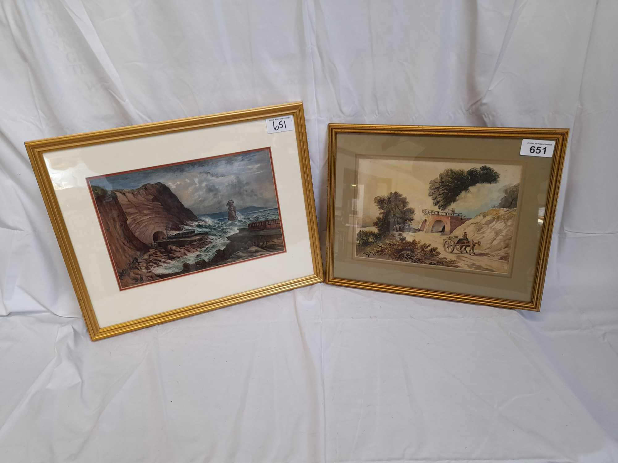 W C PAINTING LIMEKILN & PICTURE TEIGNMOUTH