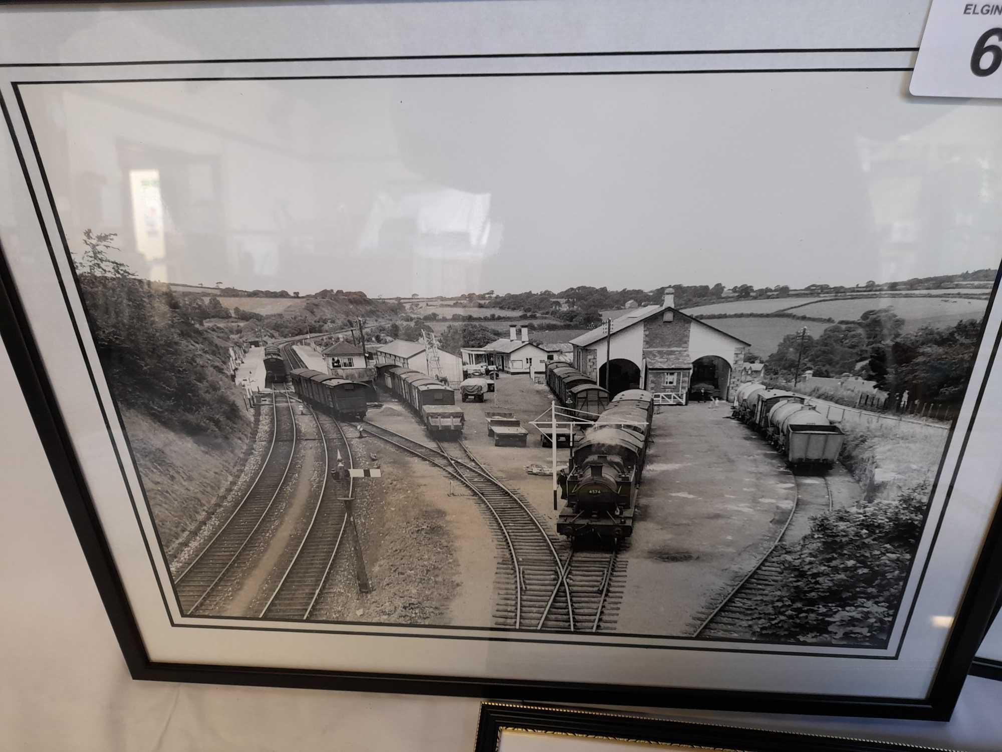 3 FRAMED PHOTOS TRAINS - Image 2 of 5
