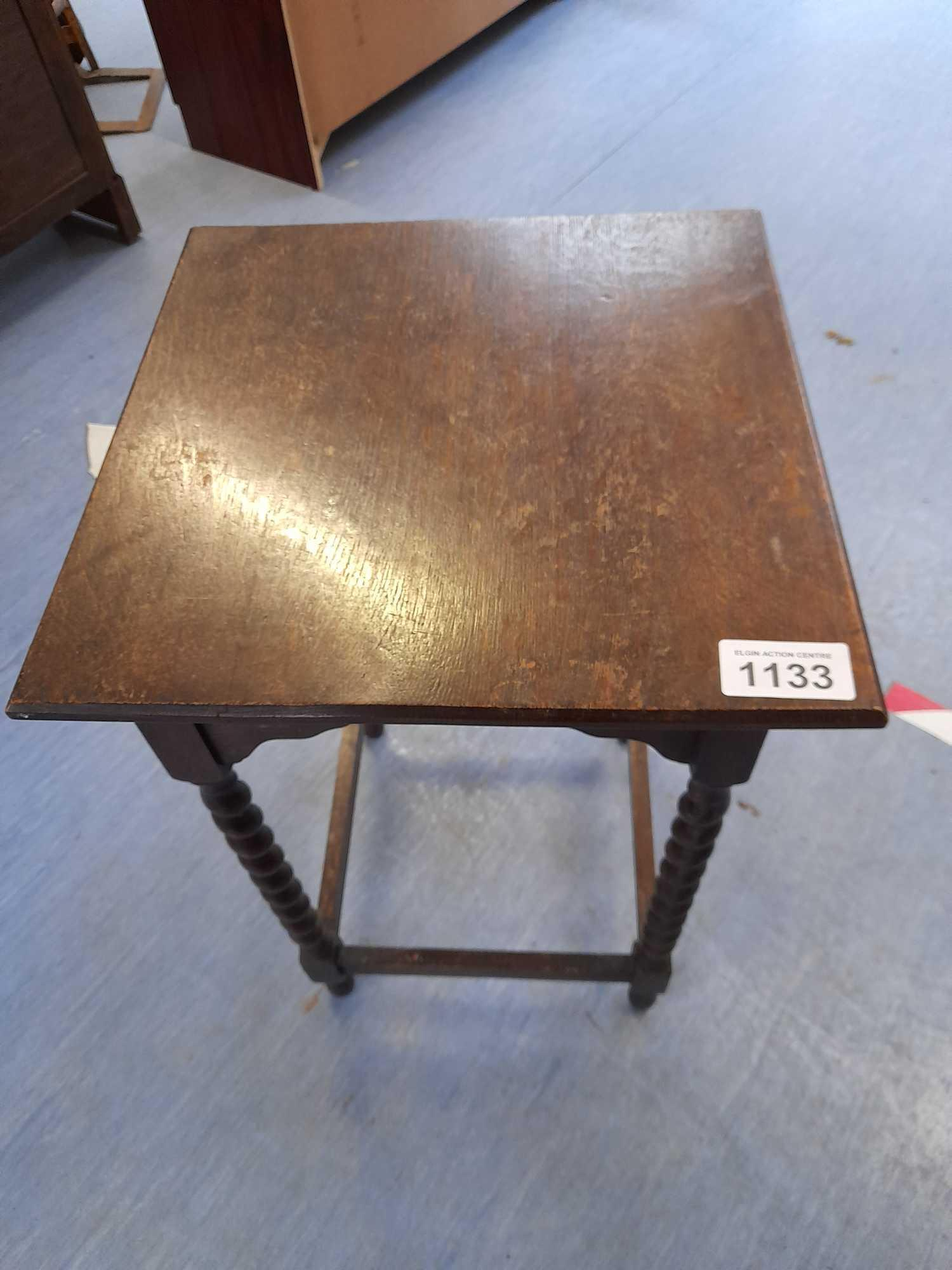 BARLEY TWIST SQUARE TOPPED TABLE - Image 2 of 2