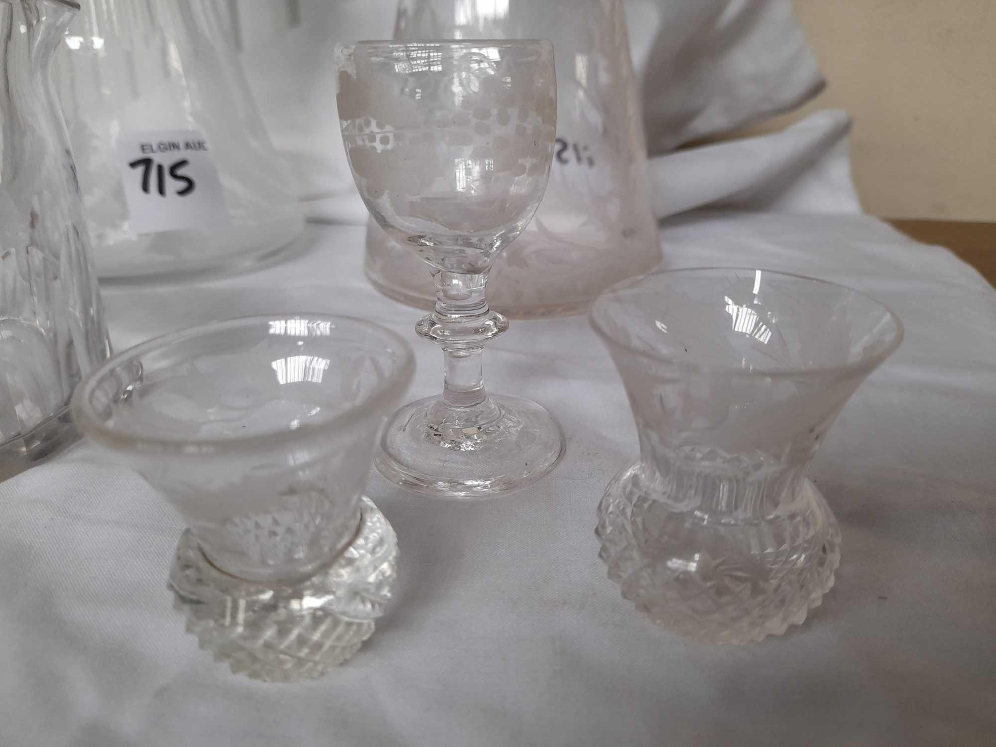 2 DECANTERS & GLASSES ETC (AF) - Image 2 of 10