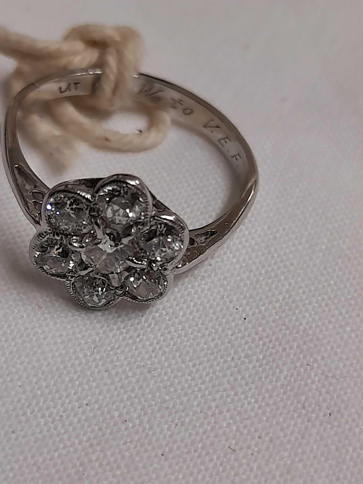"7 STONE DIAMOND DRESS RING ""M"" - Image 4 of 6"