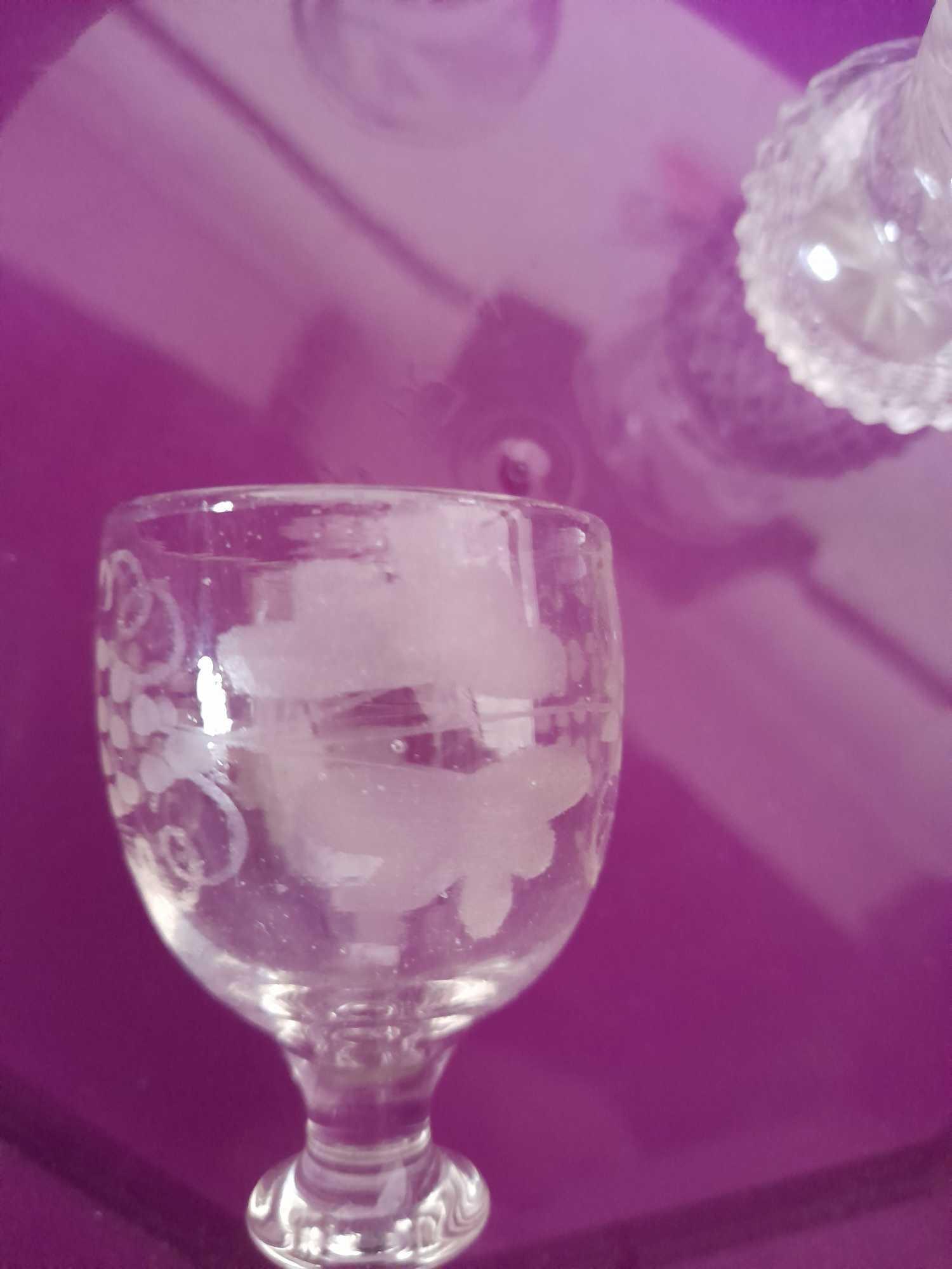 2 DECANTERS & GLASSES ETC (AF) - Image 4 of 10