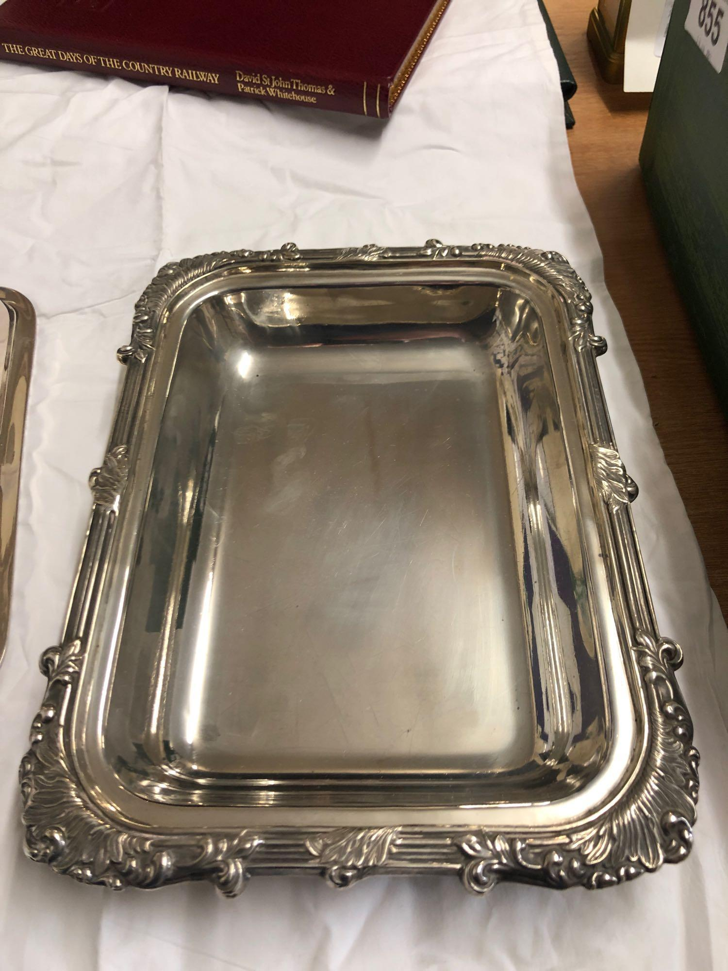 SILVER ENTREE DISH & COVER - Image 4 of 7