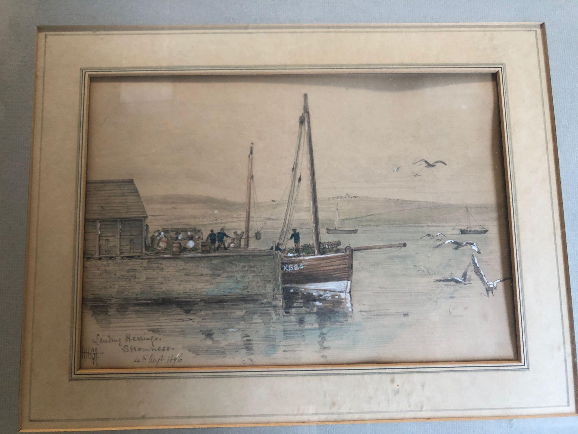 W C PAINTING BOATS (FRAME AF) & PICTURE STROMNESS 1896 - Image 6 of 7