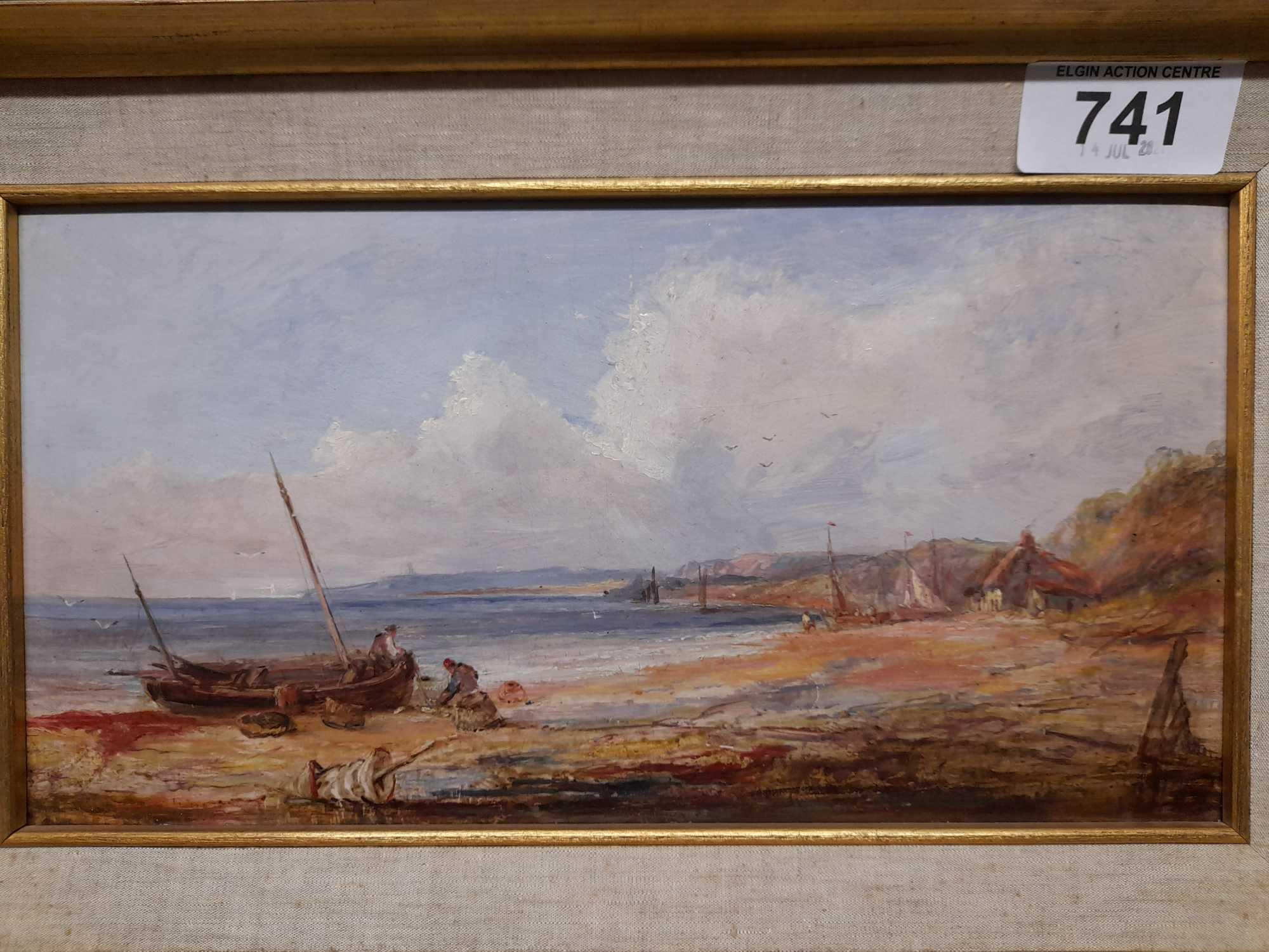 OIL PAINTING SEASCAPE UNSIGNED - Image 2 of 4