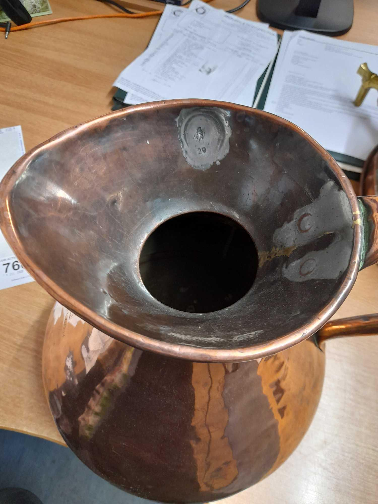 2 GALLON COPPER WHISKY MEASURING JUG - Image 5 of 7