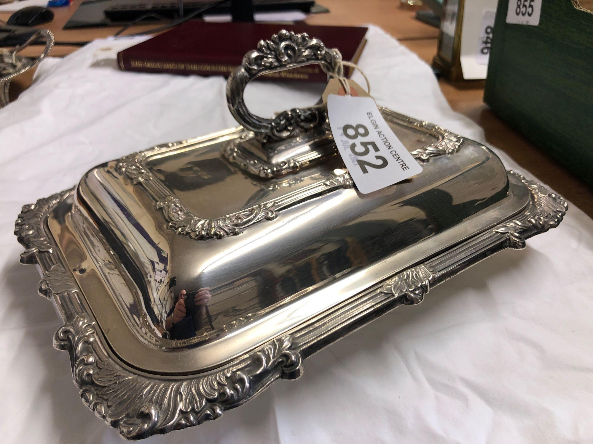 SILVER ENTREE DISH & COVER