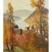 "ARNOLD-GRABONÉ, GEORG (1896-1982) ""Aggstein a.d. Donau""Öl auf Leinwand, signiert unt"