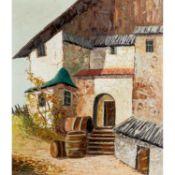 """GRABONÉ, ARNOLD (d.i. Prof. Georg Arnold, 1896-1982), """"Weinbauer in Südtirol"""",Blick"""