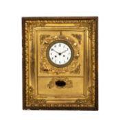 BIEDERMEIER RAHMENUHRÖsterreich, 1820/1830, beschnitztes, gold gefasstes Ochsenaugen-