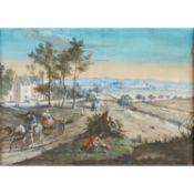 """BLARENBERGHE, wohl Louis-Nicolas van (1716-1794), """"Scène Flamande"""",Flämische Landsch"""