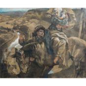 """SPEYER, CHRISTIAN (1855-1929) """"Flucht nach Ägypten""""Pastellkreide auf Papier, signiert"""