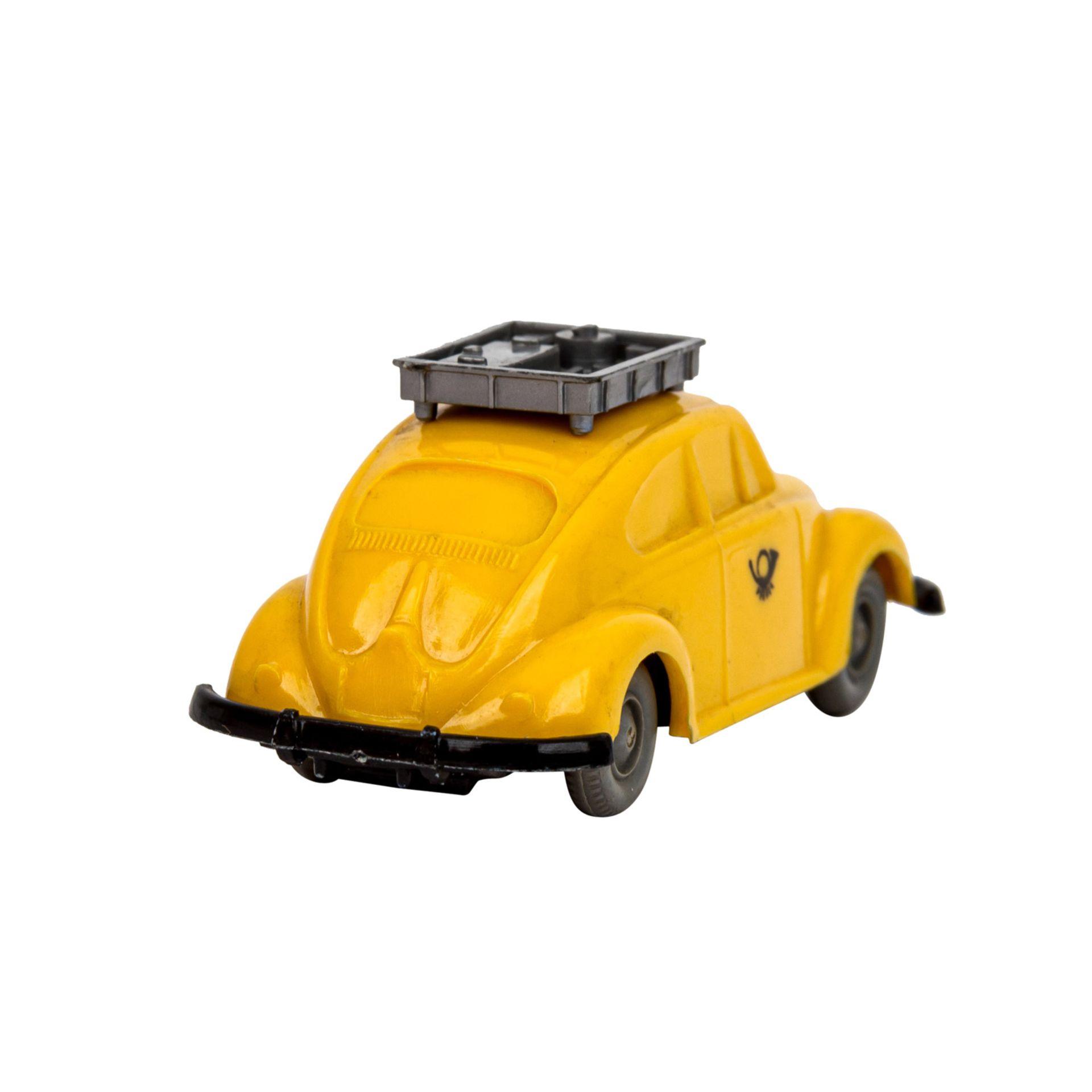 WIKING VW Käfer 'Postwagen', 1963-67,unverglaster Rollachser, gelbe Karosserie mit si - Image 3 of 5