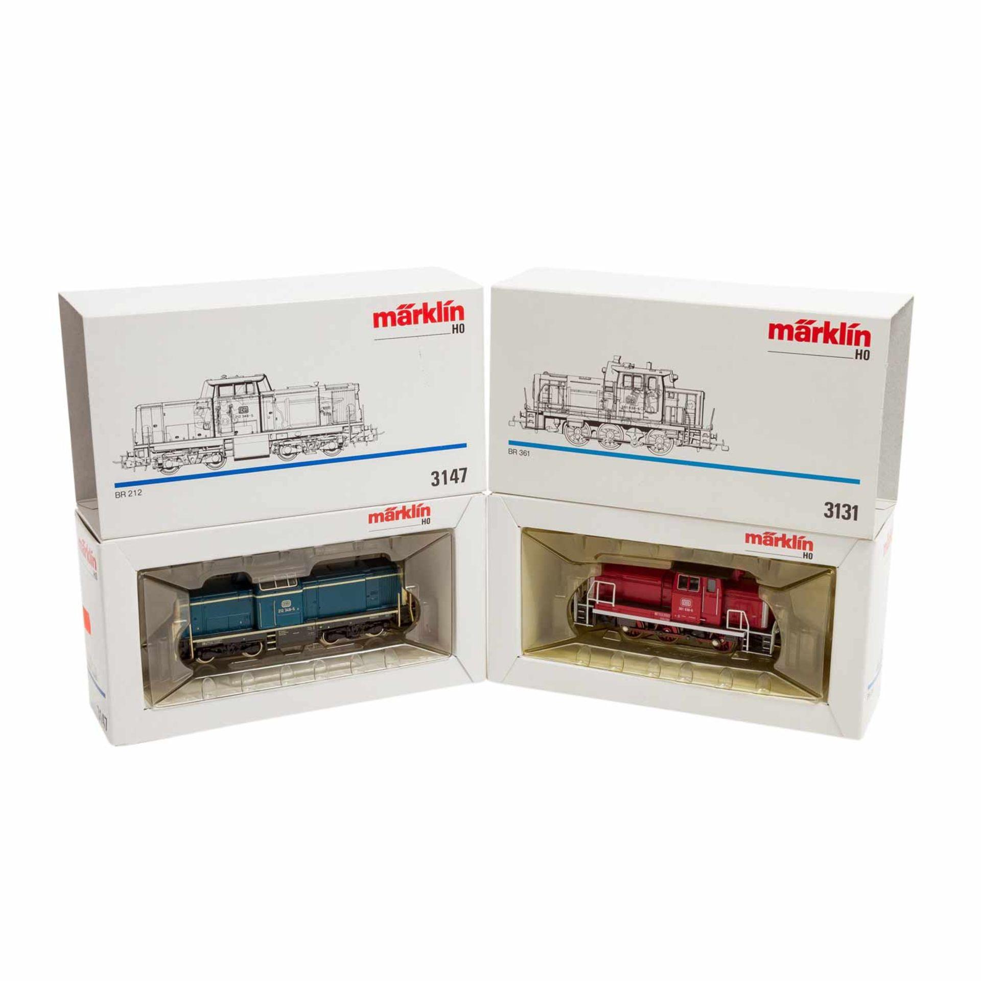 MÄRKLIN Konvolut von zwei Dieselloks und 8 Güterwagen, Spur H0,bestehend aus Diesell - Image 2 of 3