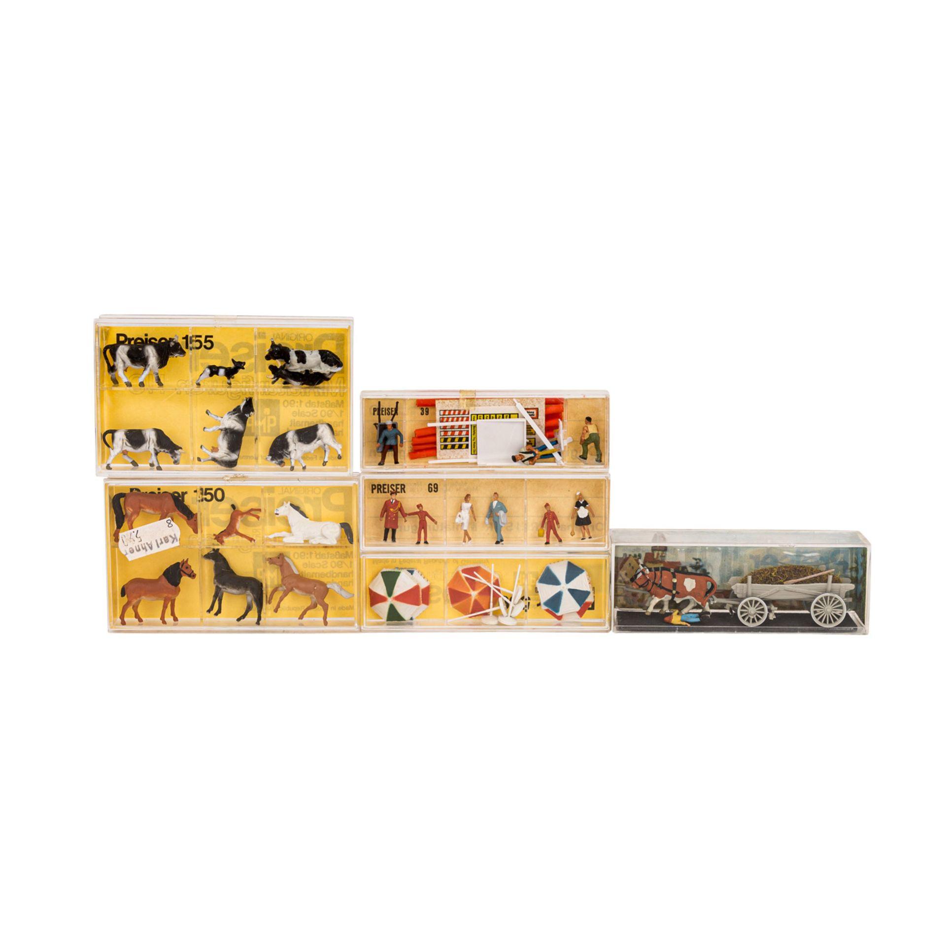 PREISER/MERTEN Konvolut von 25 Miniaturfiguren- und Zubehörsets im Maßstab H0,25 ver - Image 3 of 4