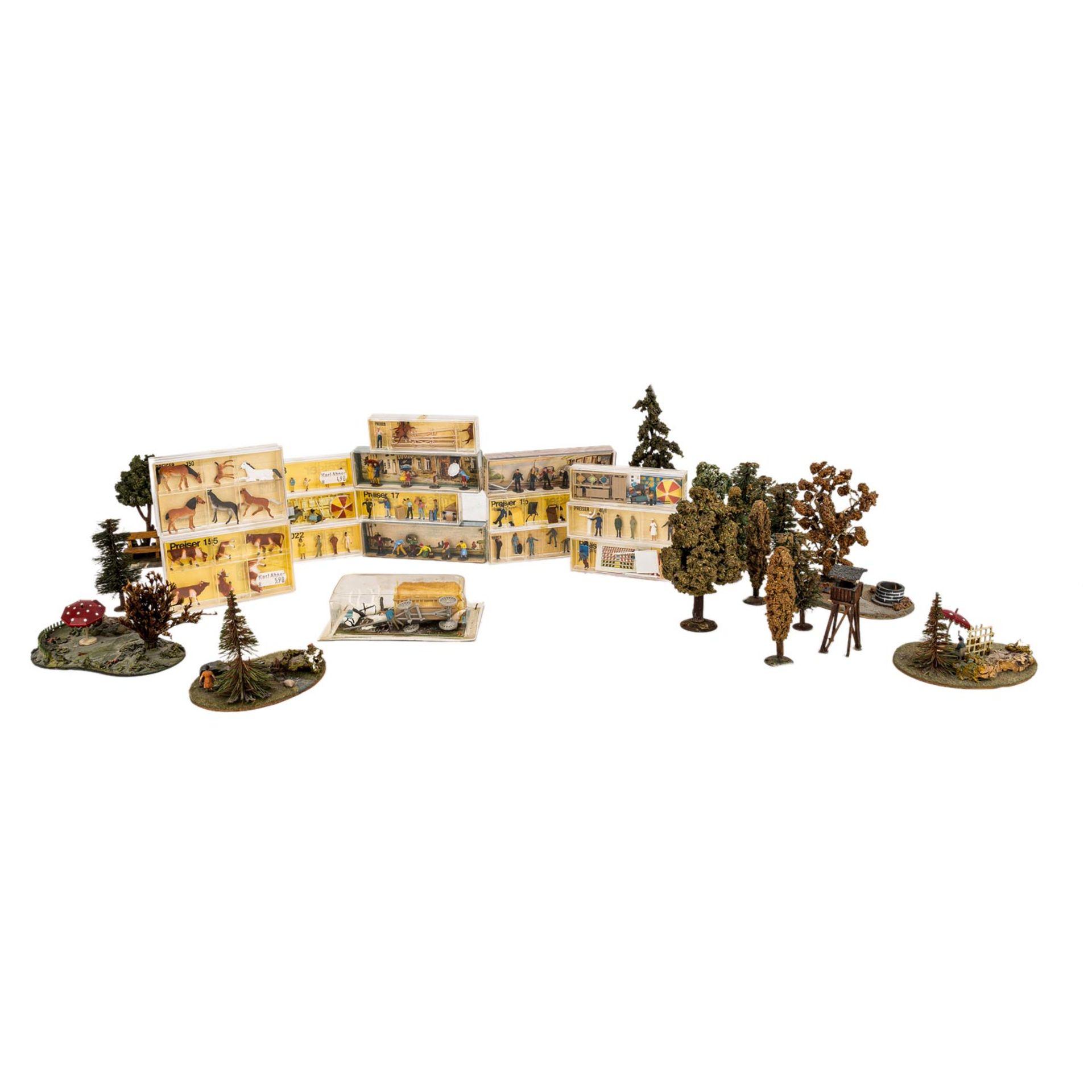 PREISER/MERTEN Miniatur-Dioramen und Figuren für die H0-Anlage,16 verschiedene Figure