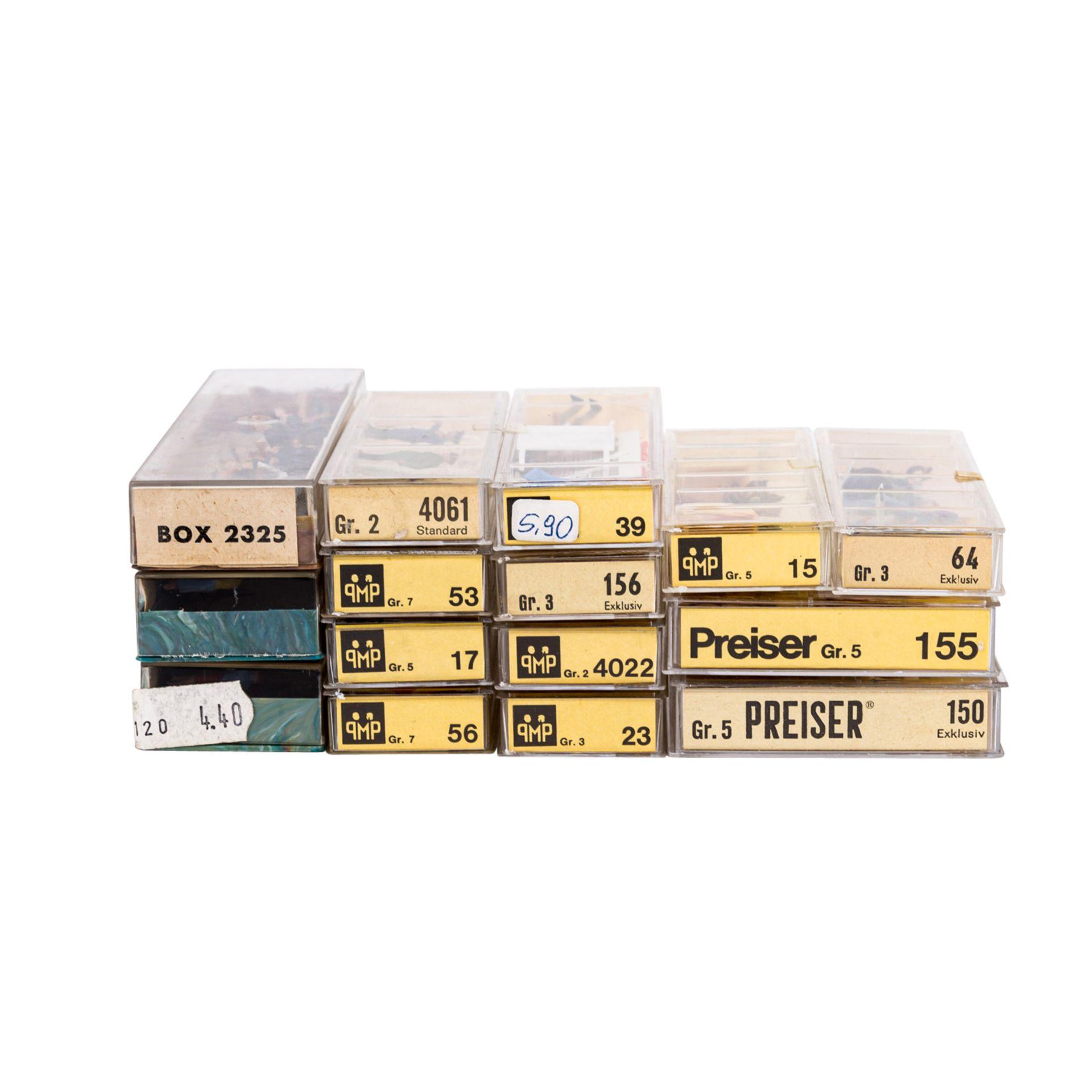 PREISER/MERTEN Miniatur-Dioramen und Figuren für die H0-Anlage,16 verschiedene Figure - Image 3 of 5