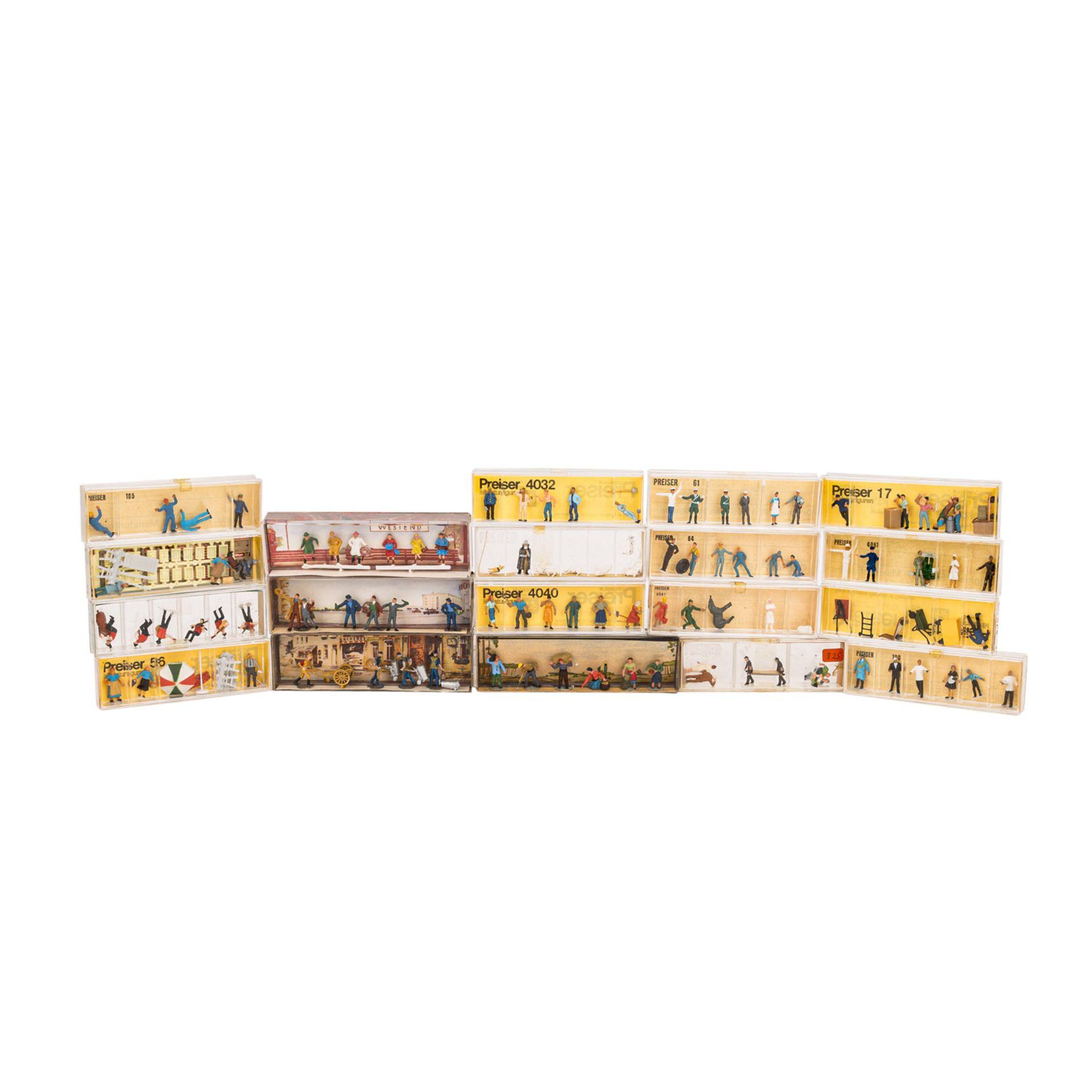 PREISER/MERTEN Konvolut von 25 Miniaturfiguren- und Zubehörsets im Maßstab H0,25 ver - Image 2 of 4