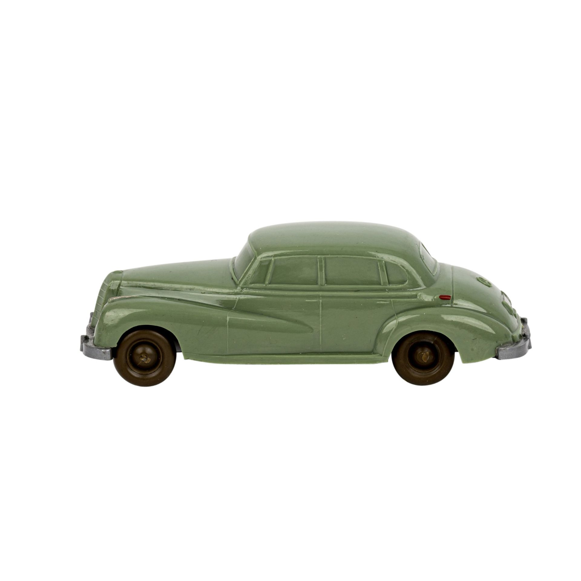 WIKING Mercedes 300, 1955-59,unverglaster Rollachser, resedagrüne Karosserie, Bodenpr - Image 2 of 5