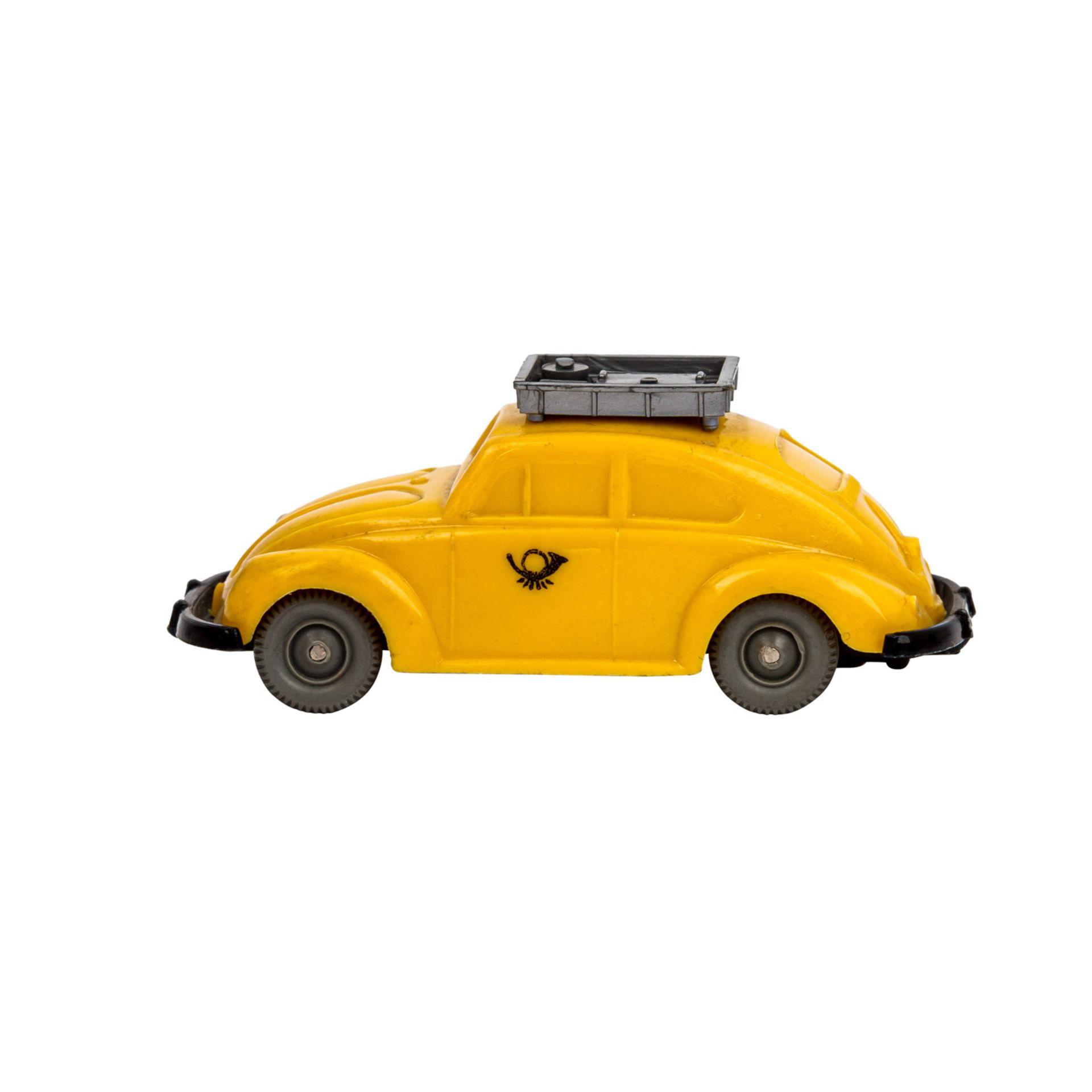 WIKING VW Käfer 'Postwagen', 1963-67,unverglaster Rollachser, gelbe Karosserie mit si - Image 2 of 5