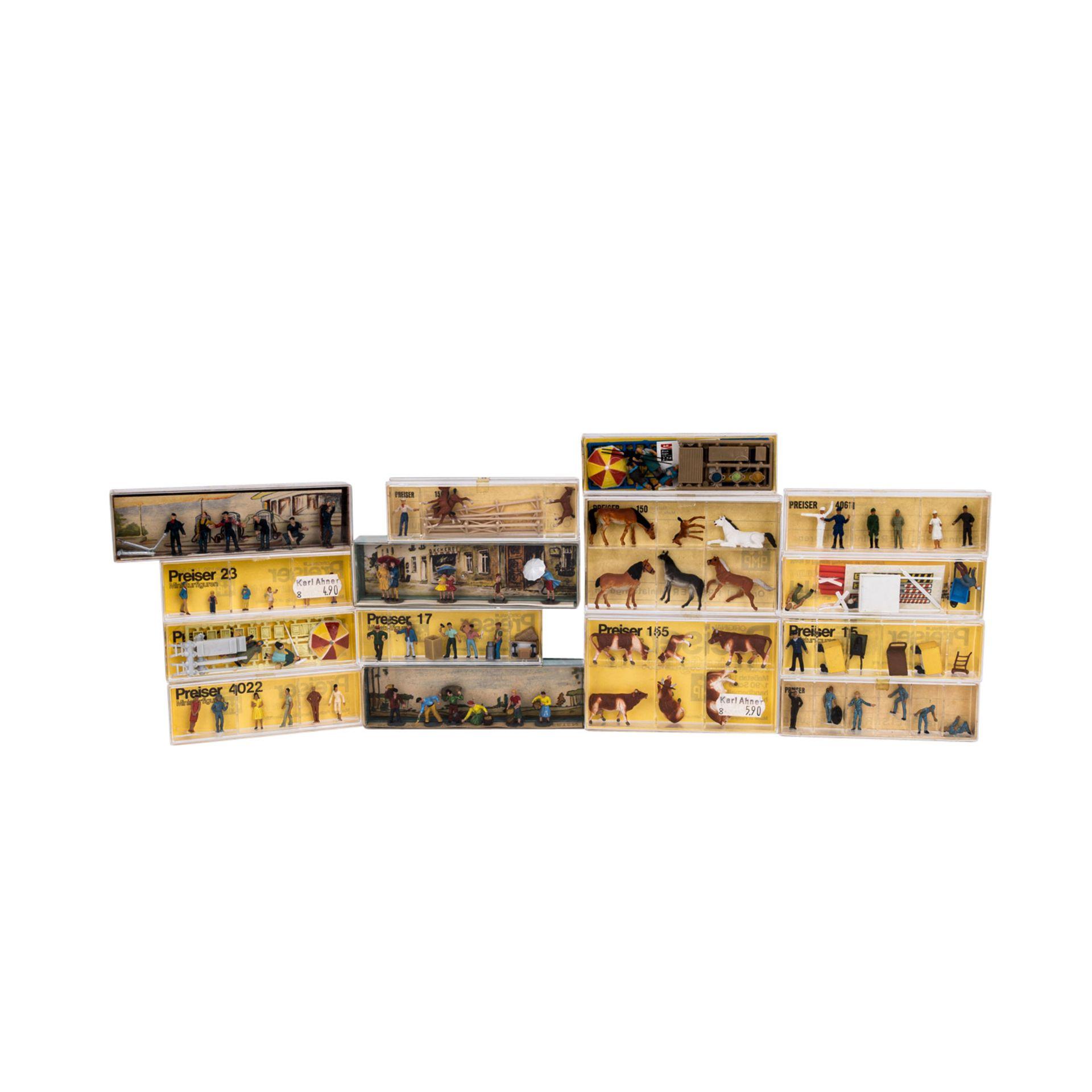 PREISER/MERTEN Miniatur-Dioramen und Figuren für die H0-Anlage,16 verschiedene Figure - Image 2 of 5